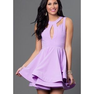 Fit & Flare Short Lavender Dress for Homecoming!!